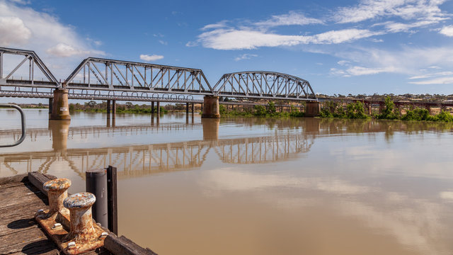 The original road bridge accross the Murray River at Murray Bridge in South Australia replaced some years ago, but still in use.