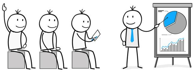 Präsentation / Business / Weiterbildung / Wissen / Webinar