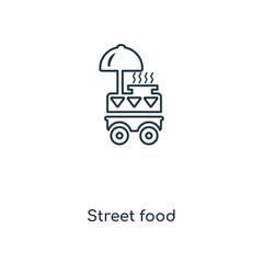 street food icon vector