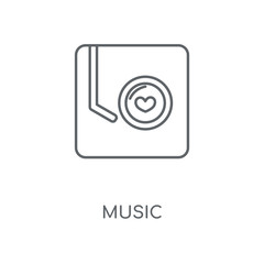 Music linear icon. Music concept stroke symbol design. Thin graphic elements vector illustration, outline pattern on a white background, eps 10.