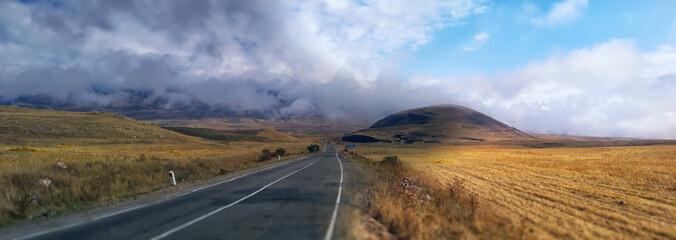 mountain road in Armenia.