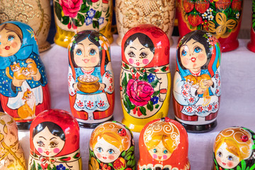 Nested dolls in the souvenir from Ukraine.
