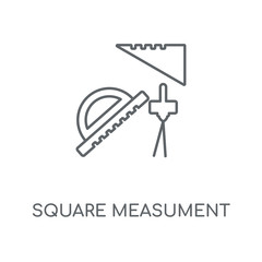 Square Measument linear icon. Square Measument concept stroke symbol design. Thin graphic elements vector illustration, outline pattern on a white background, eps 10.