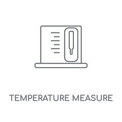 Temperature Measure linear icon. Temperature Measure concept stroke symbol design. Thin graphic elements vector illustration, outline pattern on a white background, eps 10.