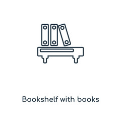 bookshelf with books icon vector