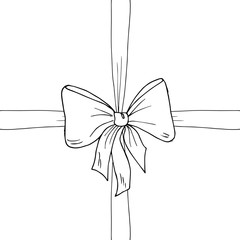 Bow, ribbon sketch