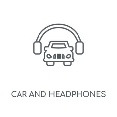 car and headphones icon