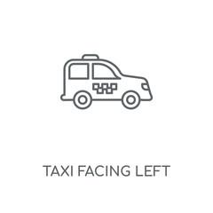 taxi facing left icon