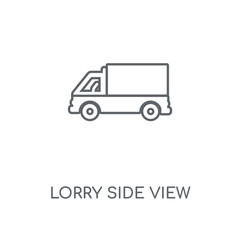 lorry side view icon