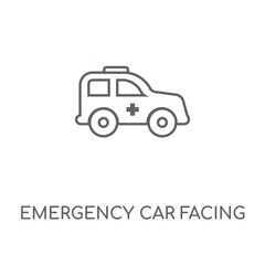 emergency car facing right icon