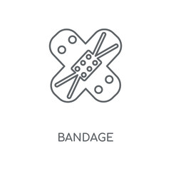 Bandage linear icon. Bandage concept stroke symbol design. Thin graphic elements vector illustration, outline pattern on a white background, eps 10.