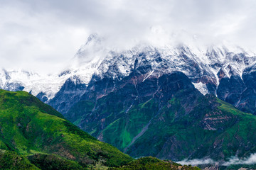 Nature view in Annapurna Conservation Area, Nepal