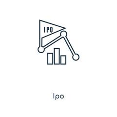 ipo icon vector