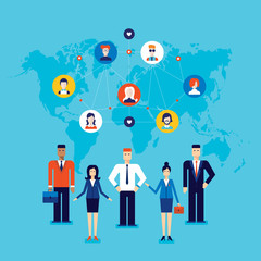 Partnership Teamwork Successful business team Social network and communication concept Vector illustration
