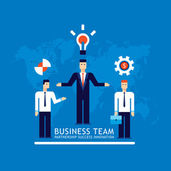 Business team Businessman successful teamwork Vector illustration Vector illustration