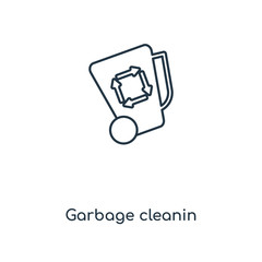 garbage cleanin icon vector