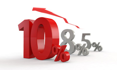 消費税10% / 8%から10%へ 縦並び / ぼかしあり
