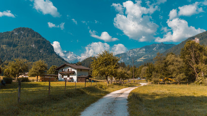 Beautiful alpine view at Lofer - Salzburg - Austria