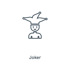 joker icon vector