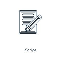 script icon vector