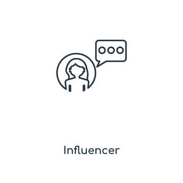 influencer icon vector