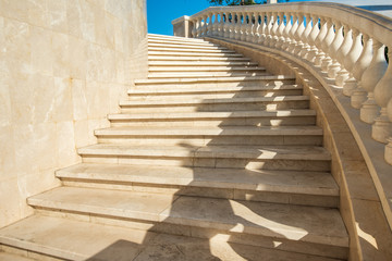 Marble staircase, steps up