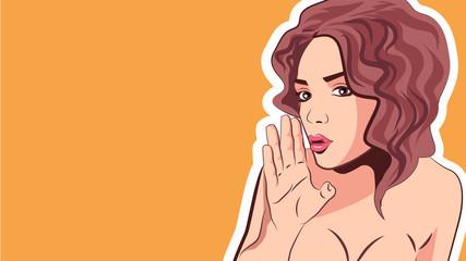 Gossiping women , pop art style. Vector illustration.