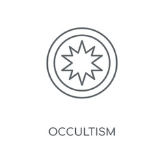 Occultism linear icon. Occultism concept stroke symbol design. Thin graphic elements vector illustration, outline pattern on a white background, eps 10.