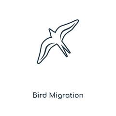 bird migration icon vector