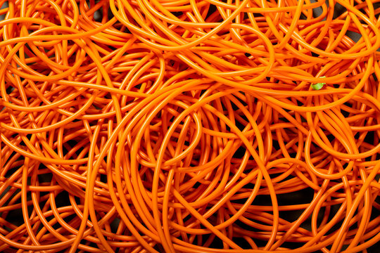 Orange abstract cable background