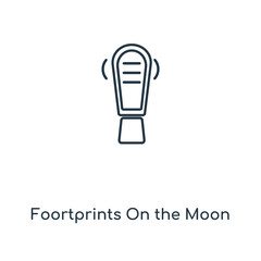 foortprints on the moon icon vector