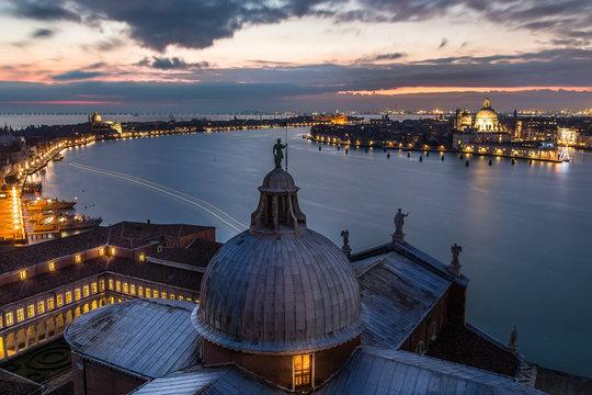 Venice aerial - Lagoon Giudecca