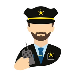 police agent with radio avatar character