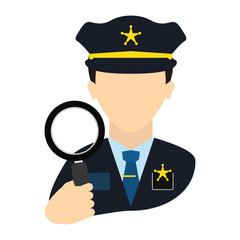 police agent with magnifying glass avatar