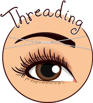 Eyebrow Threading Icon Illustration