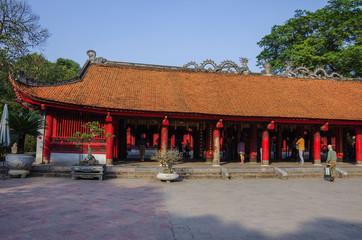 The Temple of Literature ( Van Mieu ) in Hanoi, Vietnam.