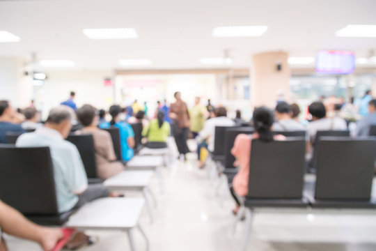 abstract blur image background of waiting area hospital clinic
