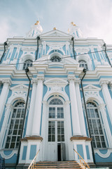 Elements of architecture of historical buildings. The Streets Of St. Petersburg. Temples and museums of the city.