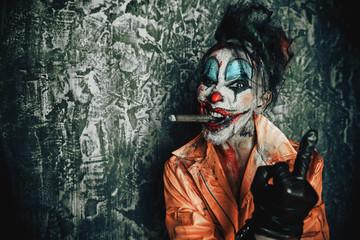 disgusting clown man