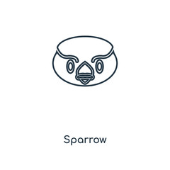 sparrow icon vector