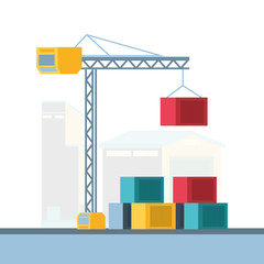 delivery service crane icons