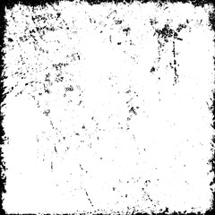 Grunge background abstract black and white. Monochrome texture of dirty surface. Pattern of cracks, chips, scuffs