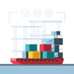 delivery service with ship cargo