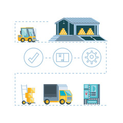 delivery service infographic icons