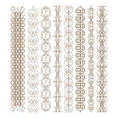 Elements of design. Ornaments. Edge, curb, frame.