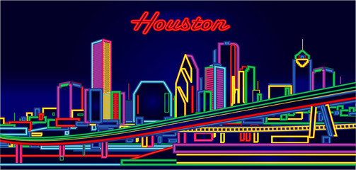 Wall Mural - Houston Texas skyline