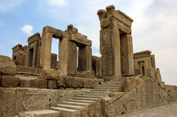 The ancient ruins of the Persepolis complex, famous ceremonial capital of Ancient Persia, Iran.