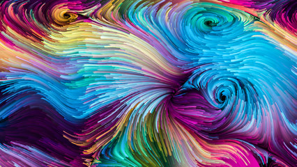 Unfolding of Colorful Paint