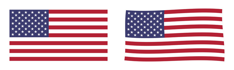 United States of America flag. Simple and slightly waving version.