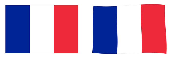 Flag of France. Simple and slightly waving version.